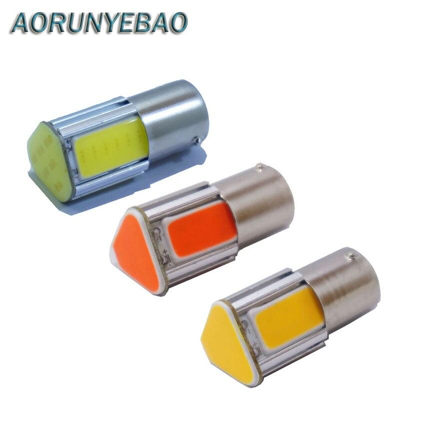 2x супер яркий авто P21W 1156 BA15s из ПОЧАТКА 4 удара автомобиля СИД s25 обратные R5W свет хвост резервного копирования Ксеноновые лампы передних поворотников света