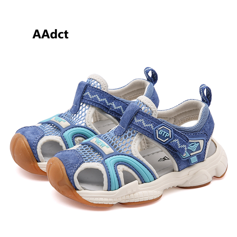 AAdct 2019 summer baby shoes Genuine leather little girls boys Beach sandals casual sports toddler