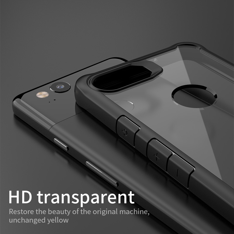 the best attitude f81cb f8343 US $4.95 60% OFF for Google Pixel 2 Case Original IPAKY Pixel 2 XL Silicone  Acrylic Hybrid Shockproof Transparent Case for Google Pixel 2 XL Case-in ...