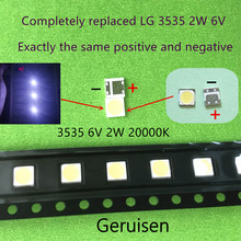 Tira de luces led para TV LCD, 500 Uds. Para reparación de TV LG, con diodo emisor de luz 3535 SMD, cuentas LED 6V LG 2W