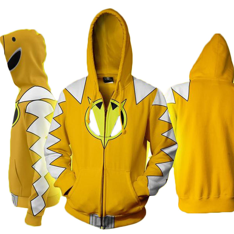 Cloudstyle Cosplay 3D Zip Up Hoodies Άνδρες Dino Charge 3D - Ανδρικός ρουχισμός - Φωτογραφία 1