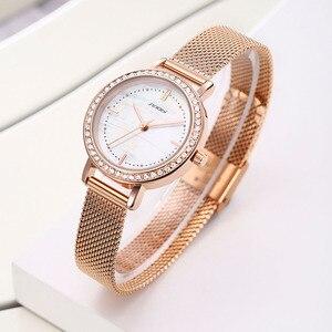 Image 4 - SINOBI reloj de marca de lujo para mujer, elegante, de cuarzo, resistente al agua, de pulsera, informal, femenino