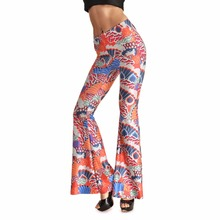 Tamaño grande lindo naranja hermosa cola de pez de impresión pantalones de cintura alta vientre-Casual mujeres Street Pants SM 3xl 4xl