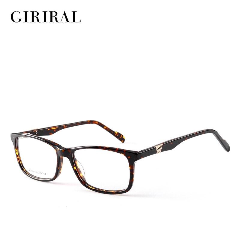 2018 Accetate women men eyewear frame vintage retro brand transparent myopia clear optical glasses frame #AT3557