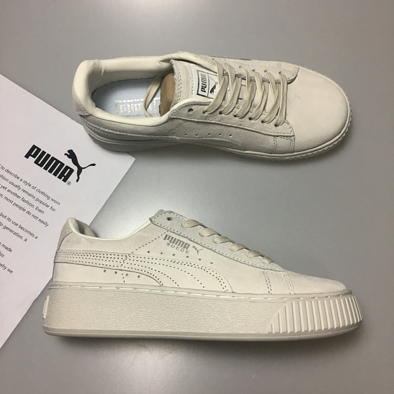 2018 New PUMA Basket Platform Womens knit and socks Badminton Shoes Sneakers size 355-39