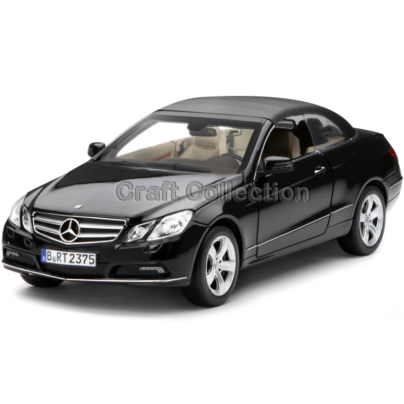 * Black 1:18 Diecast Car Model Benz E-klasse E500 Cabrio Class Luxury Gifts Rare Miniature Modell Auto E500 E-class Coupe