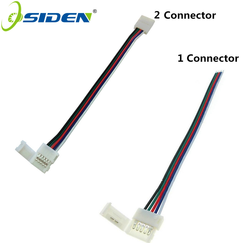 OSIDEN 5pcs/Lot 10mm 5pin RGBW LED Strip Connector Cable Solderless 5pin Clip Connector Adapter With Cable For RGBWW Led Strip
