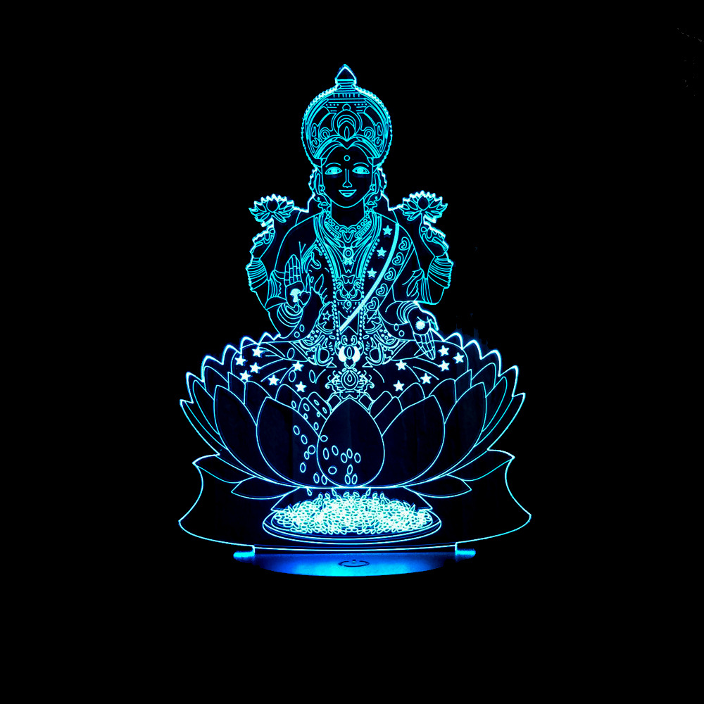 Us 12 1 28 Off India Wealth Shape Night Light Usb Lamparas Lamp Acrylic Creative Led Lighting Home Nightlight For Child Gift In