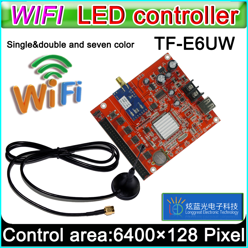 TF-E6UW Wifi Led Controller Card, P10 *** Module Single&Dual Color Led Signs,  Conventional P10 LED Display Control Card