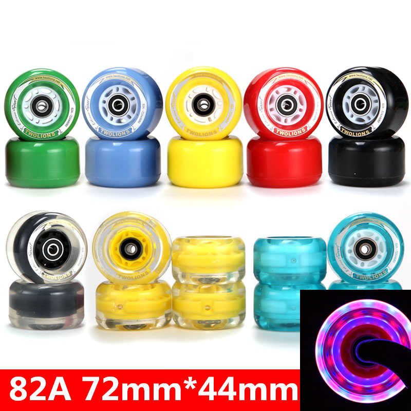 TwoLions 82A PU 72mm x 44mm Drift Skates Replacement Wheels for Freeline Skates (Pack of 4 Piece)
