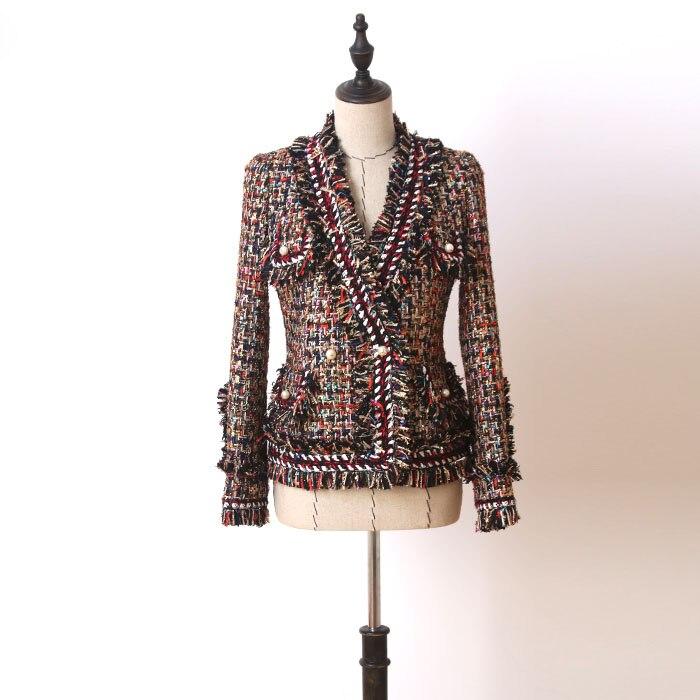 Tweed jacket coat 2017 spring/autumn women