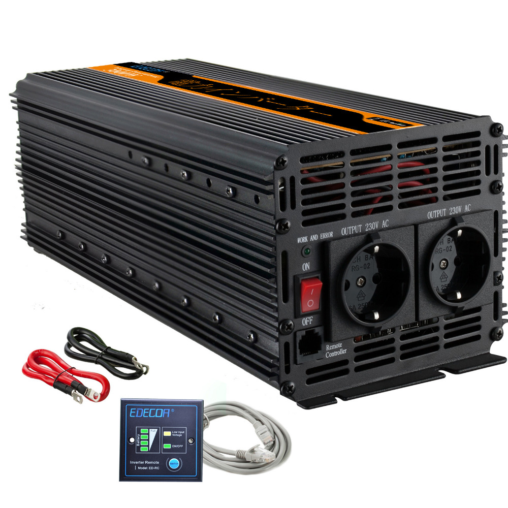 3000 w 6000 w power inverter DC 12 V à AC 220 v 230 V onde sinusoïdale modifiée onduleur