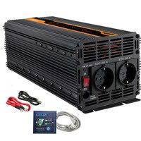 Inversor de corriente 3000 w 6000 w cc 12 V a CA 220 v 230 V inversor de onda sinusoidal modificada