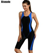 Riseado One Piece Swimsuit 2019 Sport Swimwear Women Racer Back Swimming Suits for Women Boyleg Competitive Bathing Suits