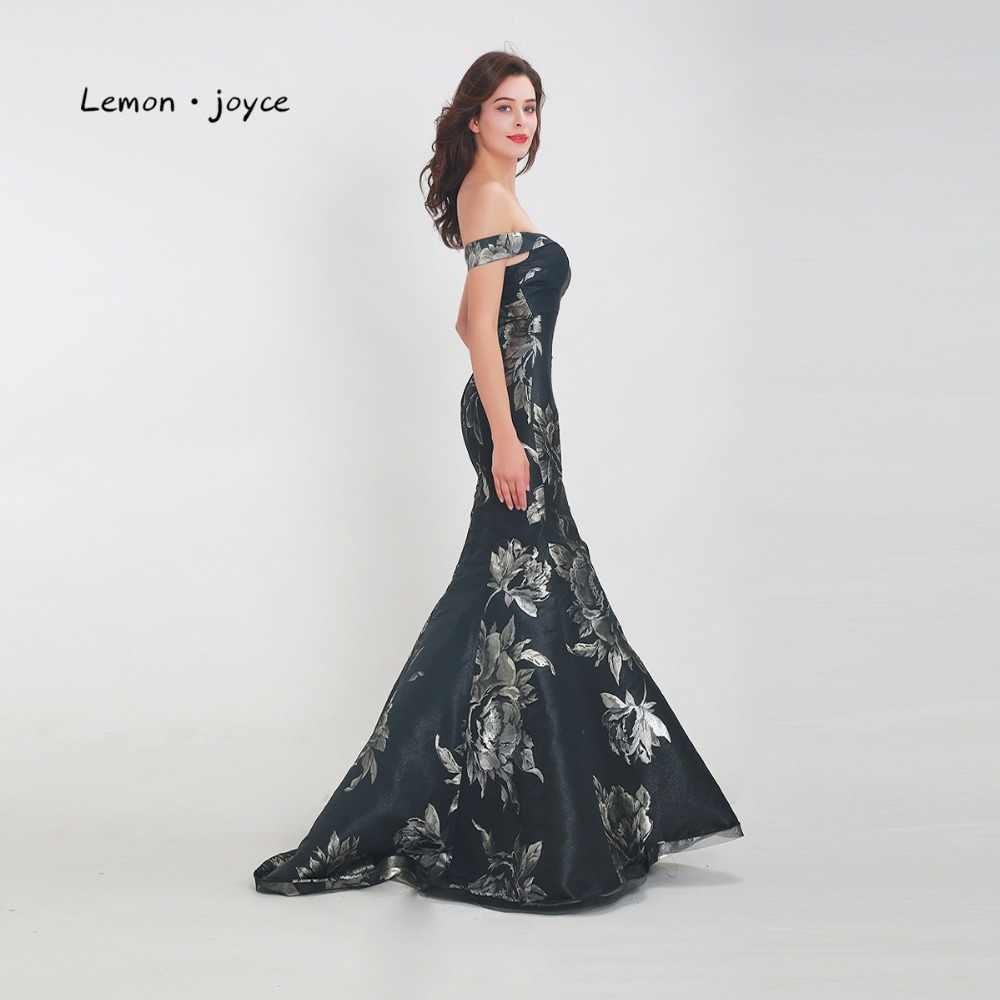 Женское вечернее платье Lemon joyce, Черное длинное простое платье-Русалочка длиной до пола, большого размера, 2020
