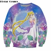 PLstar Cosmos Anime Women Sweatshirt Fashion 3D Print Sailor Moon Images Graphic Hoodie Femme beautiful Long Sleeve Sweats Top