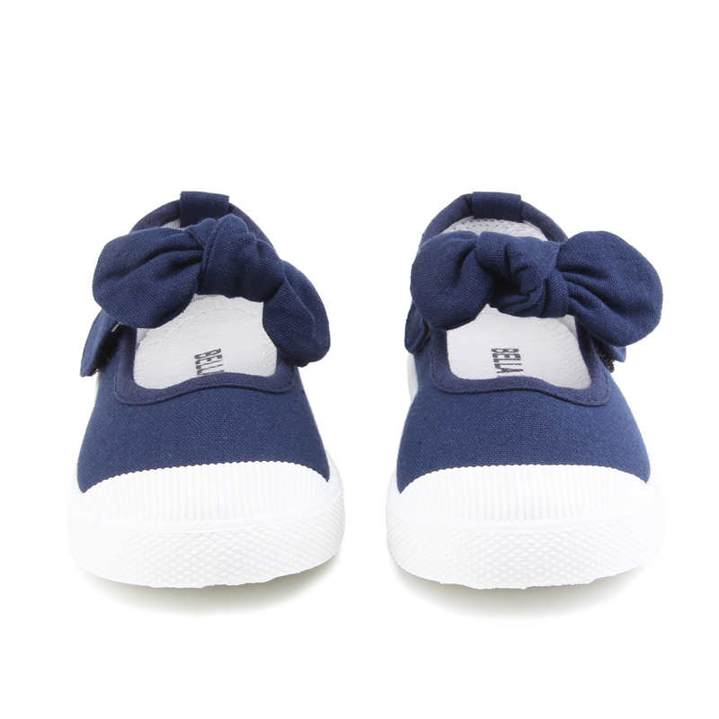 Baby Girl Shoes Canvas Casual Kids Shoes With Bowtie Bow-knot Solid Candy Color Girls Sneakers Children Soft Shoes 21-30 10