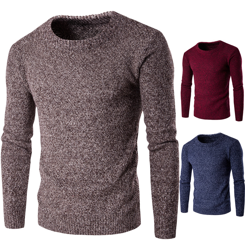 Men Sweaters Coodrony Brand Casual Sweater O-Neck Slim Fit Men Long SleeveMale Pollover Sweater Casual Thin Solid Clothes Autumn