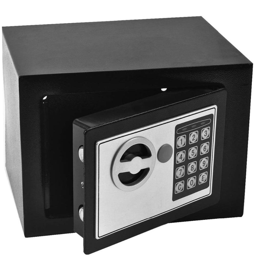 Goplus Durable Digital Electronic Safe Box Mini Money Password Keypad Lock Home Office Hotel Gun Secret Security Box HW55078