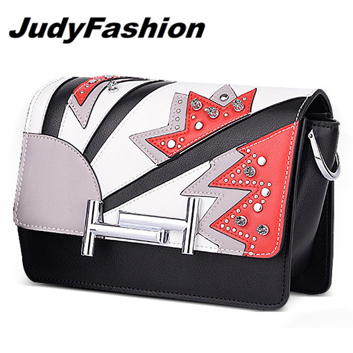 Judyfashion 2017 New Design saddle bag women handbags lady real letaher shoulder High quality Womens Messenger Bags Wholesell