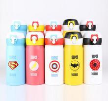 350 500ML Cute Cartoon garrafa termica thermo mug Thermos Stainless Steel Vacuum Flask for Kids Girls Men Water Bottle cheap CN(Origin) Stocked WOMEN Straight Cup Vacuum Flasks 6-12 hours