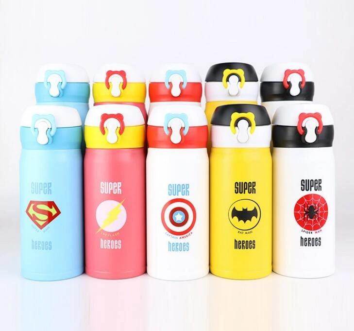le caf/é argent/é Petite bouteille deau isotherme sous vide portable anti-fuite en acier inoxydable pour enfants et femmes /à l/école pour le d/éjeuner le lait le th/é au bureau
