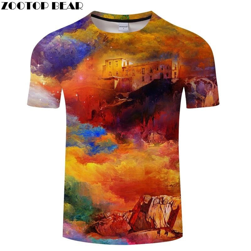 Printed t shirt Men tshirt 3d T-Shirt Summer Tee Casual Tops Short Sleeve O-neck Camiseta Painting CLothing DropShip ZOOTOPBEAR
