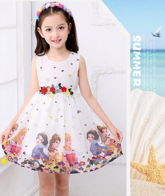 New ins cool breathable girl's chiffon dress fashionable children's Snow White dress two-piece suit in summer 2019