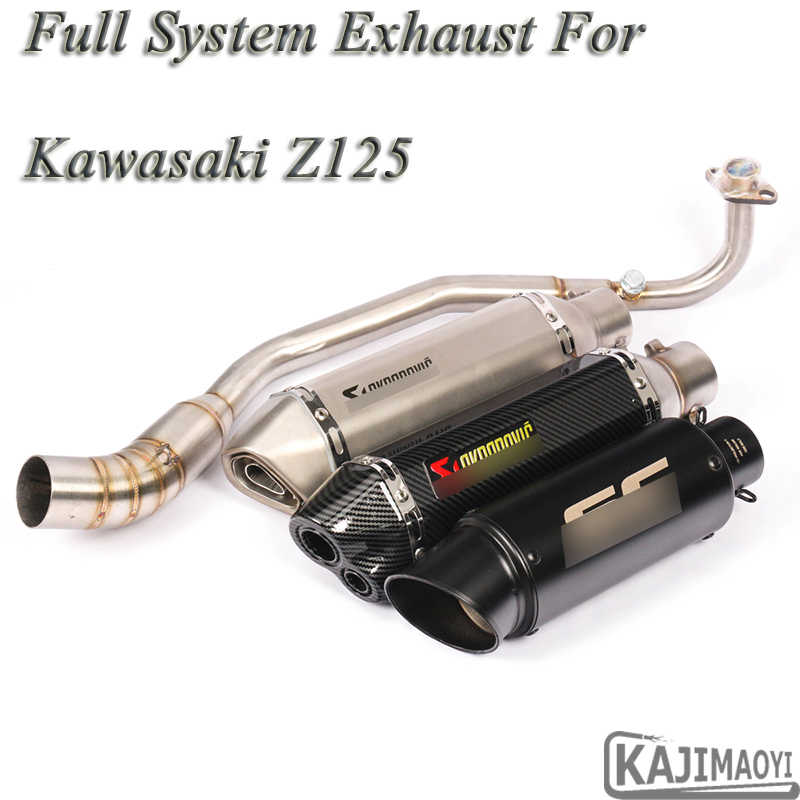 Motorcycle Full System Exhaust Escape For Kawasaki Z125