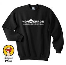 404 Error Costume Not found Shirt Cheap Halloween Top Crewneck Sweatshirt Unisex More Colors XS - 2XL