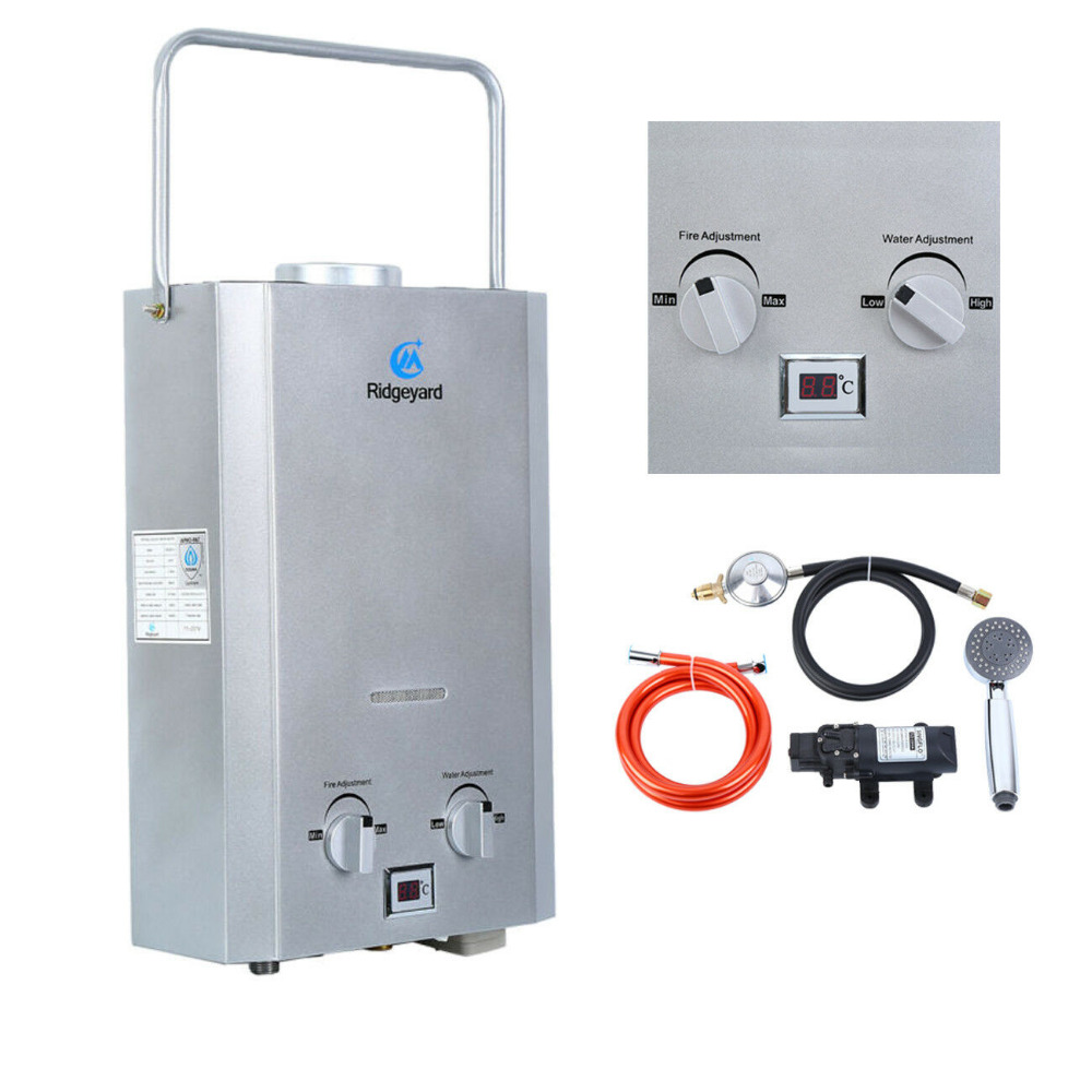 AU Local Shipping ! 6L IAPMO R&T Gas Hot Water Heater Portable Shower Camping LPG Outdoor Instant