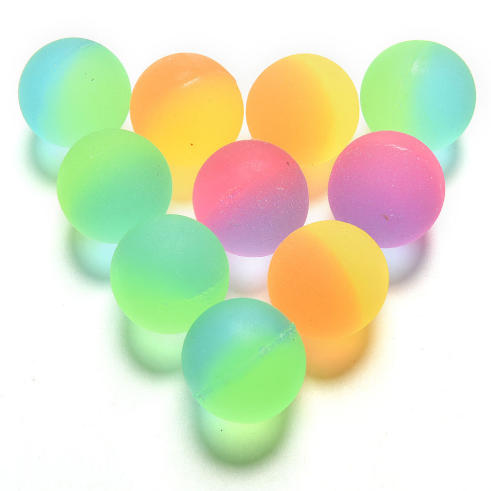 Children Toy Boy Bouncing Ball Colored Kids Sport Games Elastic Juggling Jumping Balls Unny Toys Stress Air Ball Outdoor Fun