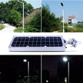6 V 13 W Led Luz de Calle Solar Al Aire Libre PIR Sensor de Movimiento Luces de la calle IP65 A Prueba de agua 56 Leds Del Panel Solar Luz de La Calle jardín