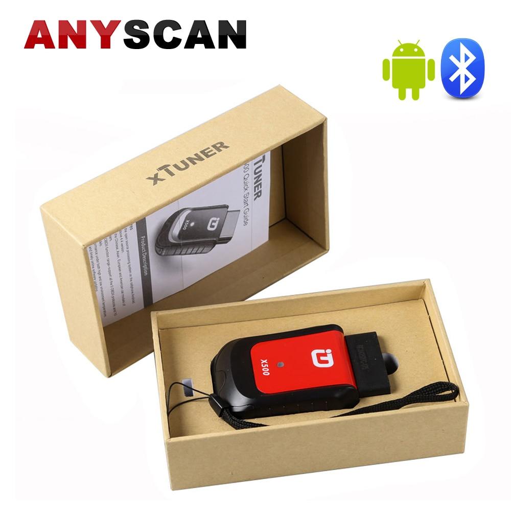 XTUNER X500 Bluetooth Car Diagnostic Tool ABS font b Battery b font DPF EPB SRS TPMS