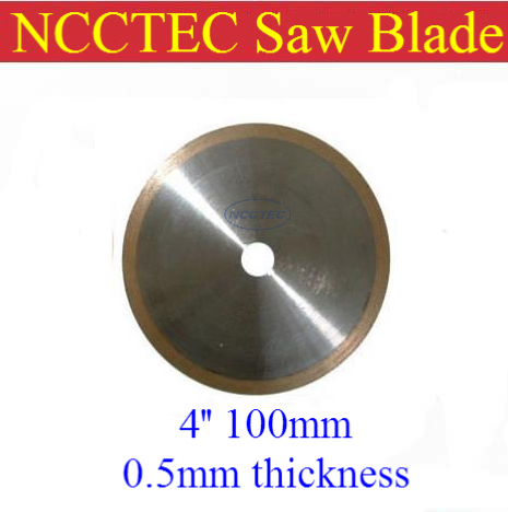 ФОТО [ 0.5mm thickness] 4'' 100mm Kerf ultra THIN Rim Diamond resin bond Saw Blade FREE shipping | save your materials and money