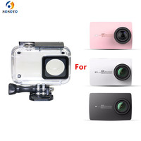 45M Diving Waterproof Housing Case Underwater Protective Cover For Xiaomi Yi 4K 2 II Sports Action