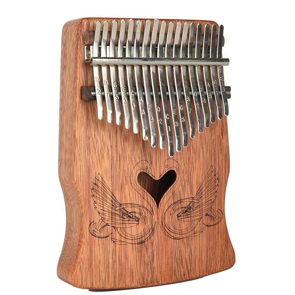 17 clé Kalimba Mbira Portable Fashiona Sanza Doigt Pouce Piano Clavier Marimba En Bois Massif Musical Vidé Instrument