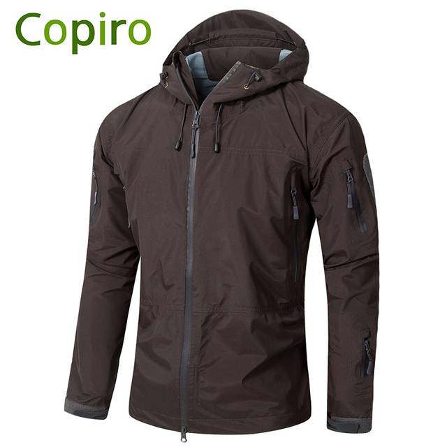 3cadfa4d754e4 Copiro Spring Men Hiking Jacket Waterproof Military Tactical Windbreakers  Hardshell Shark Skin Coats Camouflage Outdoor Clothing