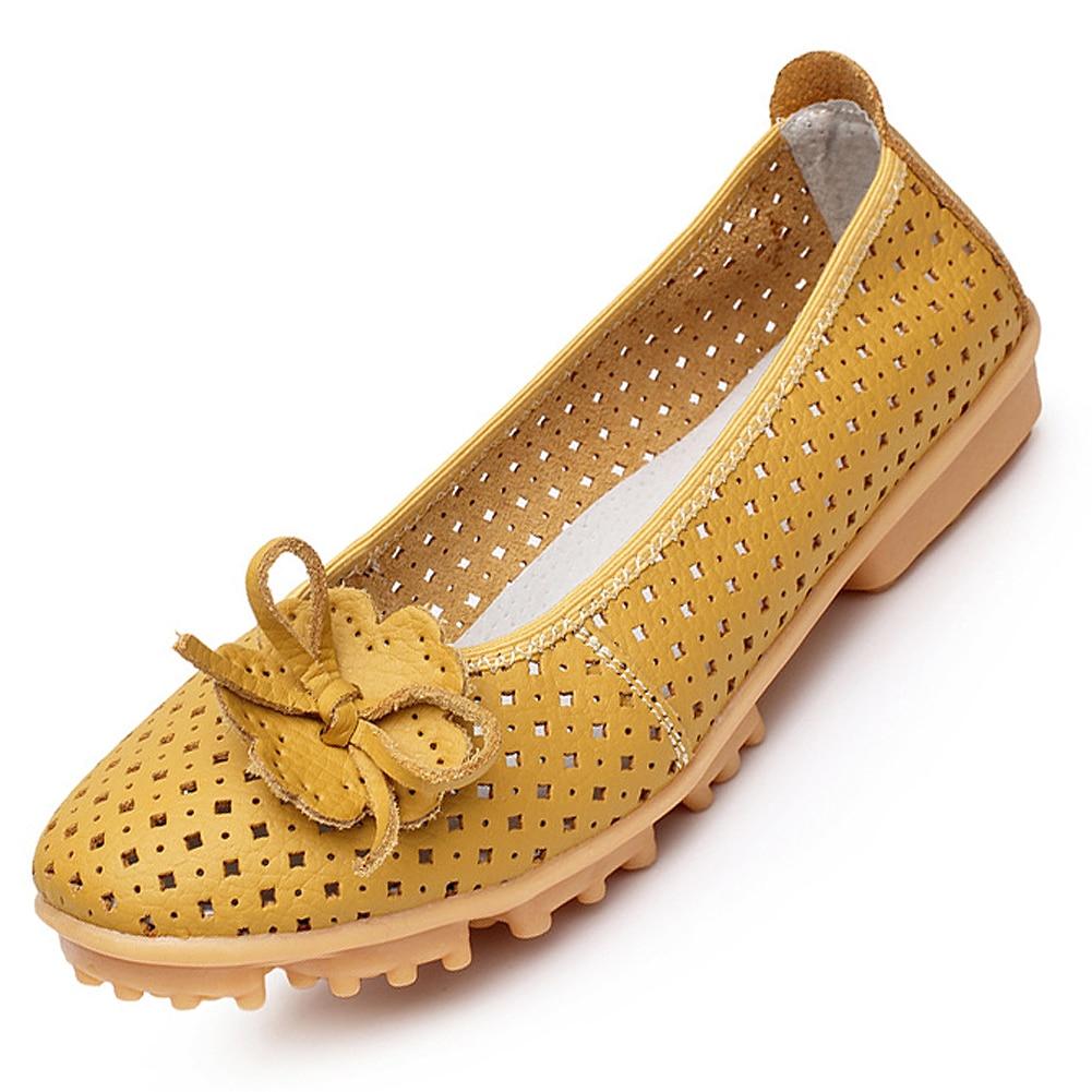 TEXU New 2017 High Quality Women genuine Leather Flats Shoes Cut Outs Ballet Women Flats Comfort Shoes Woman Moccasins цена