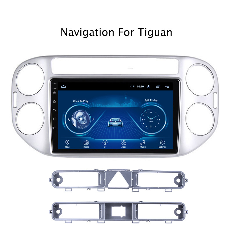 Super Slim Touch Screen Android 9.1 Car radio GPS Navigation for tiguan 2010 2011 2018 tablets Stereo Wifi Multimedia Bluetooth image