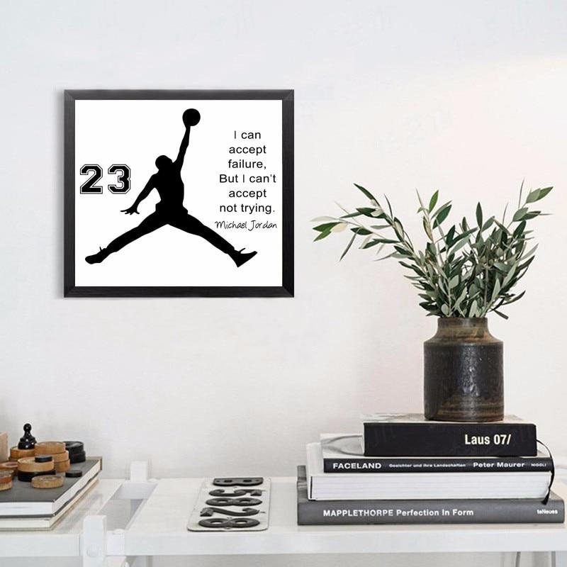 Michael Jordan Poster Inspiring Quotes Wall Art Canvas Painting Wall ...