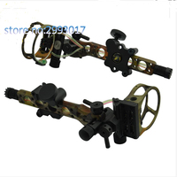 Topoint 5 pin 0.019 inch bow sight with fine tuning detachable bracket aiming light left/right hand compound bow archery