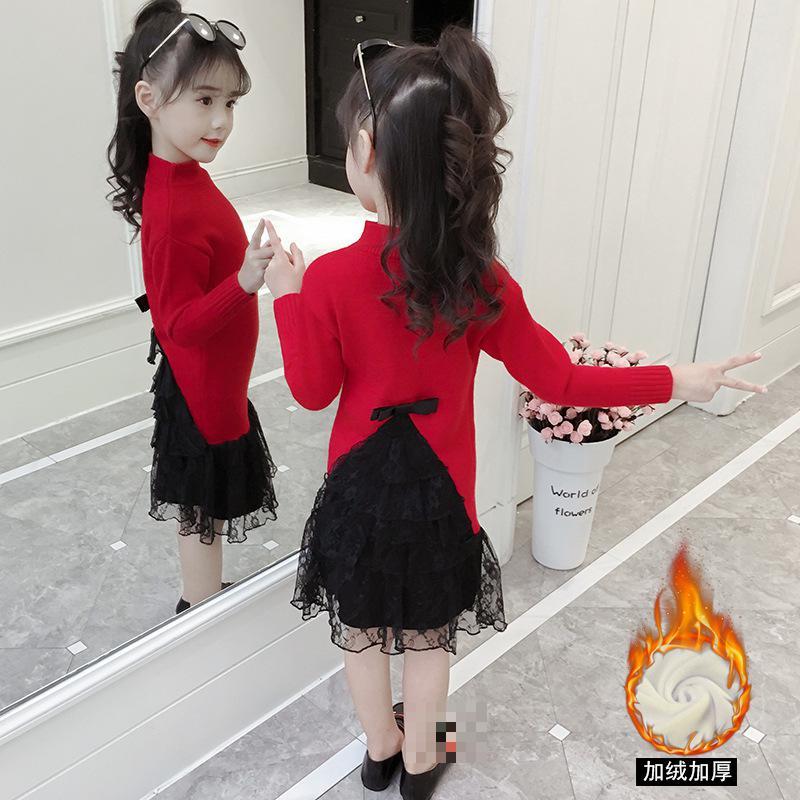 Girl Dress 2018 New Fashion Christmas Sweater Dress Winter Warm Knit Kids Dresses For Girls 4 5 6 7 8 9 10 11 12 13 Y Kerst Jurk striped v neck knit sweater dress page 5 page 5