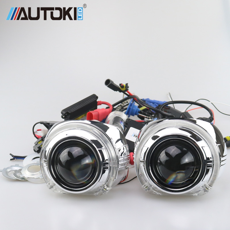 Free Shipping 3.0inch S-Max LED DRL light shroud with 2.5inch H1 Mini Hi/Low bi xenon Projector lens kit for headlight retrofit retrofit headlights cover 2 5for h1 mini projector lens silver gatling gun shroud [qp379]