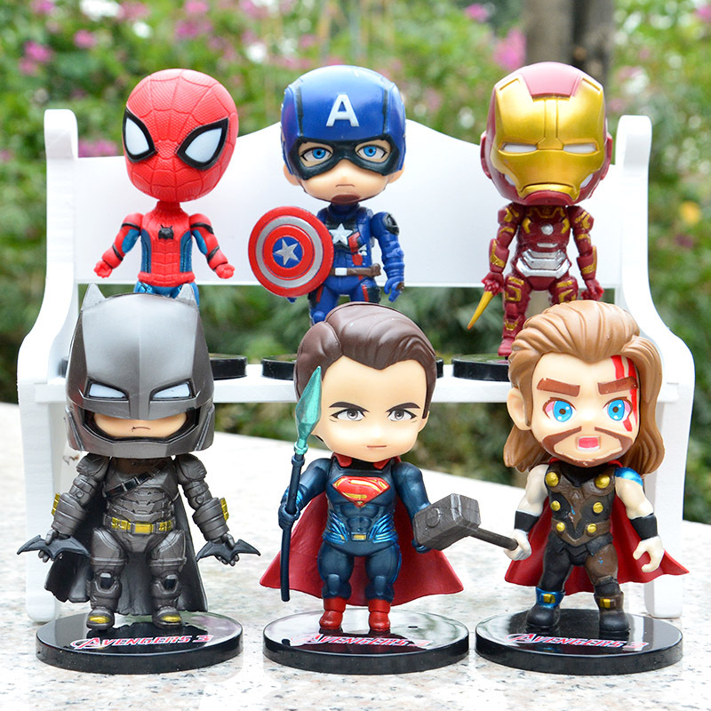 Marvel Miracle Avengers 6 Group Set Cake Decoration Iron Man Captain America Hulk Raytheon Cake Model Action Character Model ToyMarvel Miracle Avengers 6 Group Set Cake Decoration Iron Man Captain America Hulk Raytheon Cake Model Action Character Model Toy