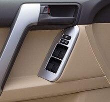 4pcs for TOYOTA PRADO 2700 Car window switch Trim Lift panel frame sticker