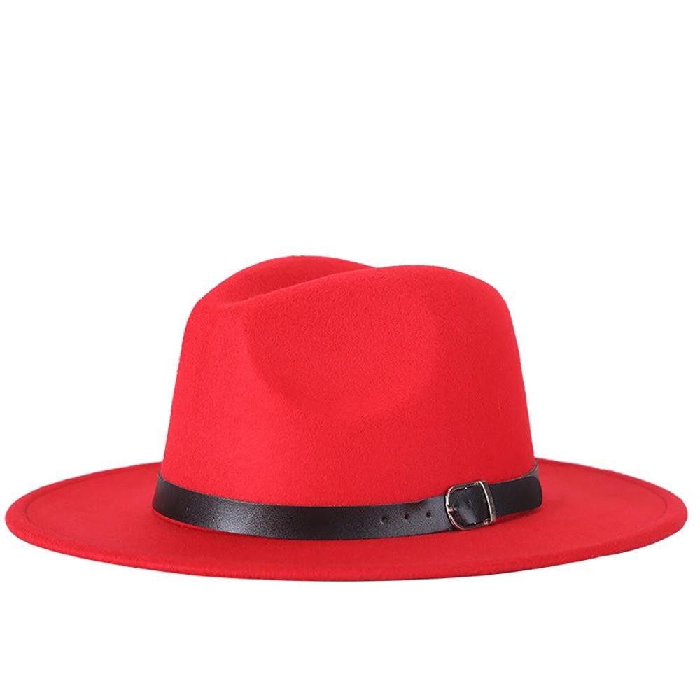 5cdb9f7b458784 Women Men's Winter Felt Hat Elegant Round Caps Bowler Hats Wide Brim Caps  Fashion