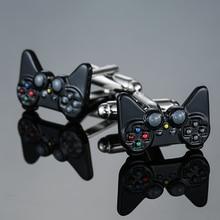 Free shipping, new silver game console handle cufflinks men's shirt cufflinks se