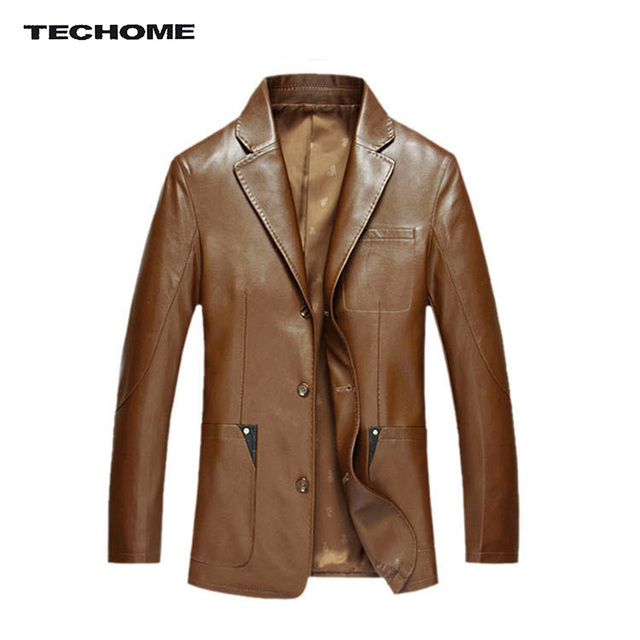 New Fashion Men Slim leather clothing Men's Leather Jackets Spring and Autumn Slim Fit Leather Jacket Casual Coats PU Leather