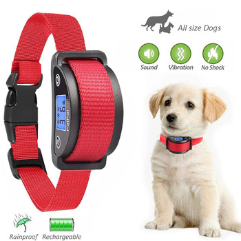 2019 New Large LCD Screen bark collar no shock bark collars Rechargeable Bark Stop Collar Vibration collar no shock фото